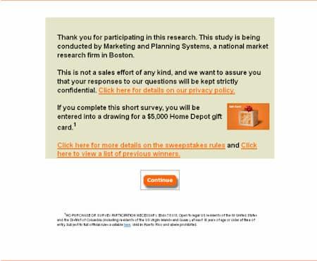 Home Depot Survey - www.Homedepot.com.survey