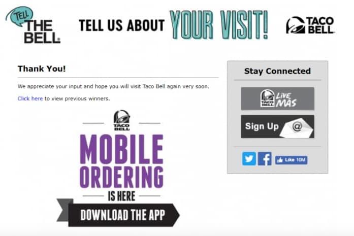 www tellthebell com customer satisfaction survey