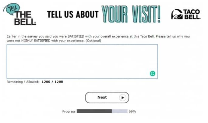 www tellthebell com survey process