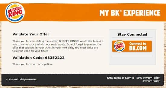 www.mybkexperience.com Official Survey