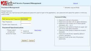 MyHRCVS Password Reset