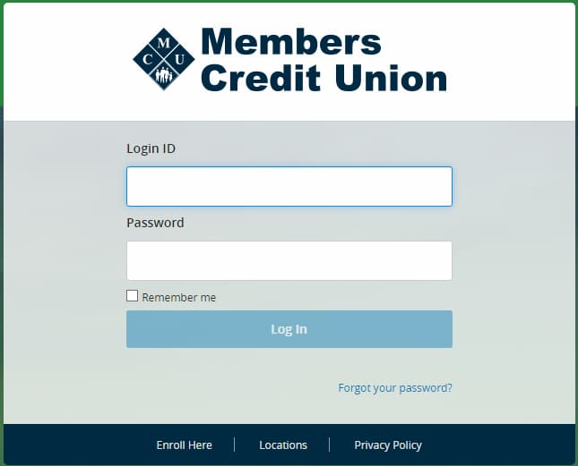Members Credit Union login