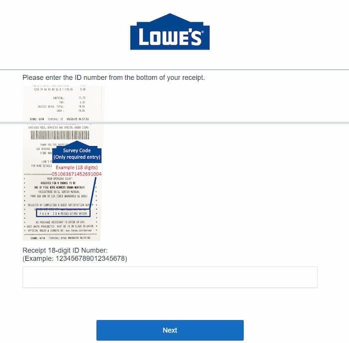 lowes survey 2020