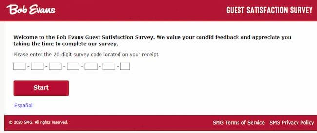 Bobevanslistens.Smg.Com online survey process