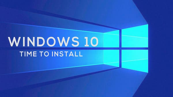 how long to install windows 10
