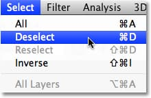 photoshop how to deselect