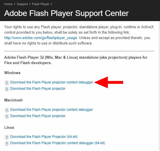 how to unblock adobe flash player 2021