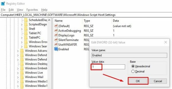 windows script host access is disabled on this machine win 10