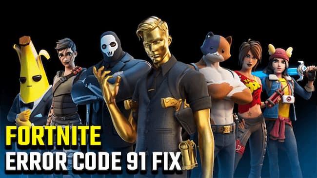 fortnite error code 91