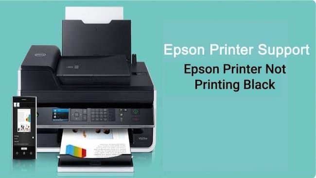 epson printer not printing black