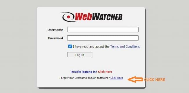 webwatcherdata login screen