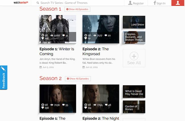 game of thrones free online full episodes