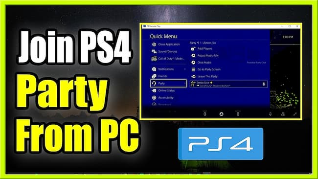ps4 party chat on pc