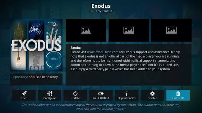 exodus redux no stream available