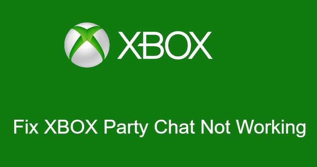 xbox party chat not working