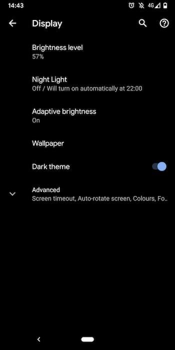 dark mode instagram android
