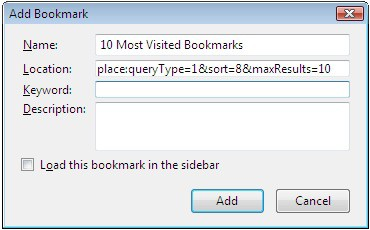 how to create most visited bookmark