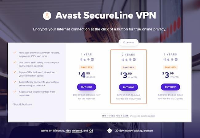 secureline vpn key